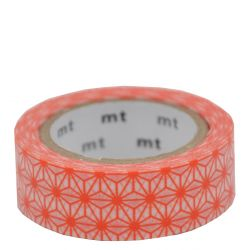 Masking tape - Asanoha akadaidai (orange)