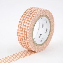 Masking tape - Quadrillé orange