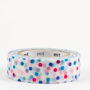 Masking tape / point multicolore rose (drop pink)