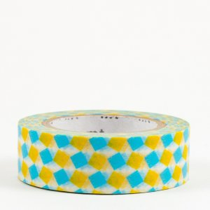 Masking tape / carré jaune et bleu (square yellow)