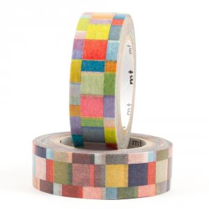 Duo Masking tape - Mosaïques (mosaics / bright×greyish)