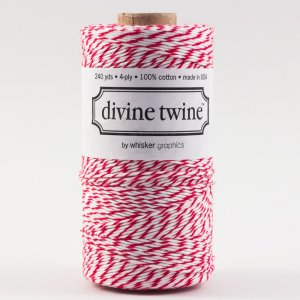 Bakers twine Rouge & blanc