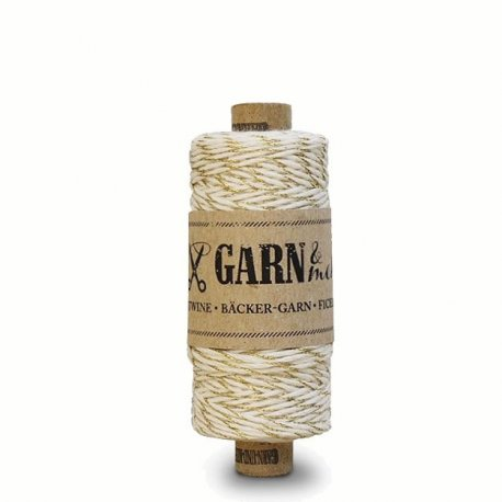 Bakers Twine - Or & blanc - 45 mètres