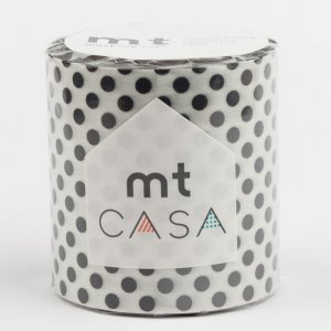 MT CASA -  Pois noirs (dot black) - Largeur 50mm