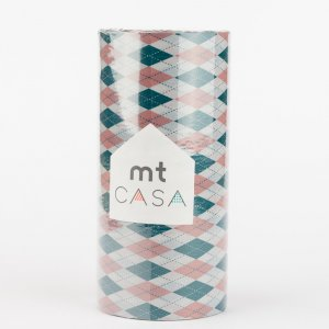 Masking tape MT CASA - Jacquard (argyle pink) - Largeur 100mm