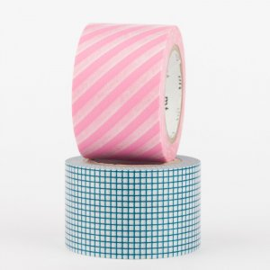 Masking tape - mt Wide - hougan blue et stripe pink