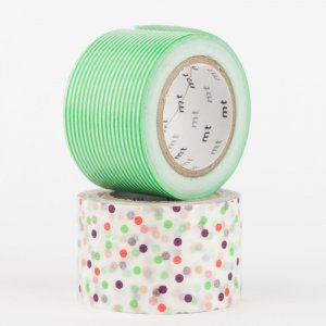 Masking tape - mt Wide - Drop Green et Border Green