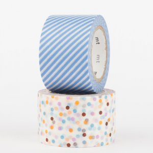 Masking tape - mt Wide - Drop Lavender et Stripe Light Blue