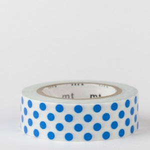 Masking tape / pois bleu / dot blue