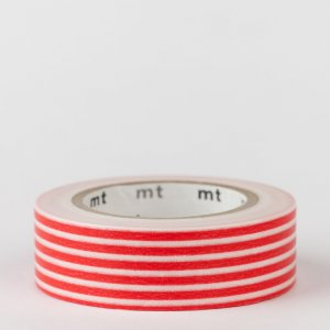Masking tape / lignes rouge / border red
