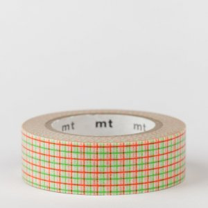 Masking tape / quadrillé vert & orange / hougan green x orange