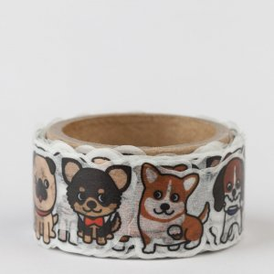 Washi tape Round top - Chien