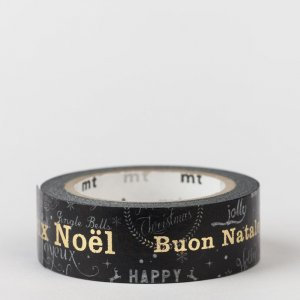 Masking tape / Joyeux Noël multilingue / Christmas message