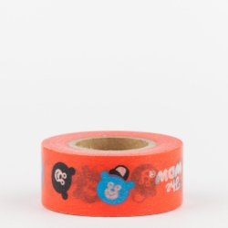 Masking tape pocket Masté - Wonder bear rouge