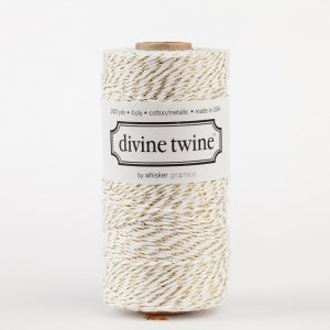 Bakers twine Blanc et or