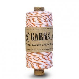Bakers Twine - Orange et blanc - 45 mètres