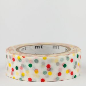 Masking tape / Petits pois multicolors (Drop red)