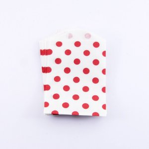Sachets Papier Small - Pois Rouge (lot de 10)