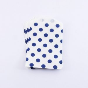 Sachets Papier Small - Pois Navy (lot de 10)