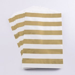 Sachets papier Medium - Ligne or (lot de 10)