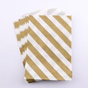 Sachets papier Small - Diagonale Or (lot de 10)