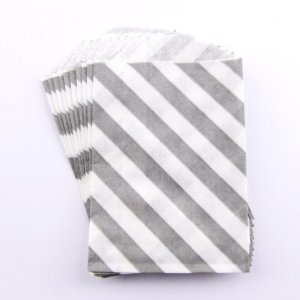 Sachets papier Small - Diagonale Gris (lot de 10)