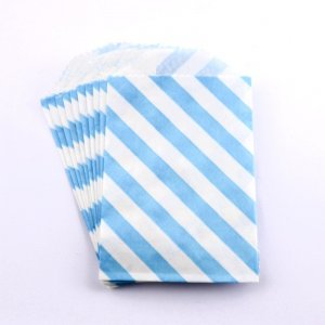 Sachets papier Small - Diagonale Bleu (lot de 10)