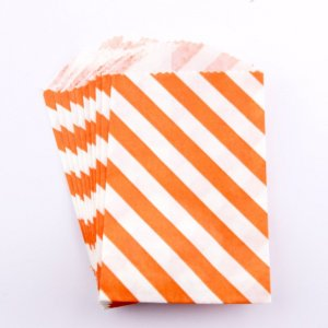 Sachets papier Small - Diagonale Orange (lot de 10)