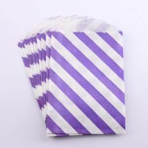 Sachets papier Small - Diagonale Violet (lot de 10)