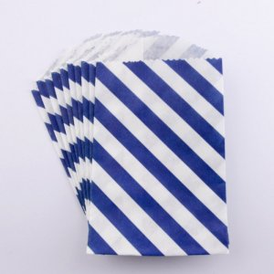 Sachets papier Small - Diagonale Navy (lot de 10)