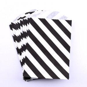 Sachets papier Small - Diagonale Noir (lot de 10)