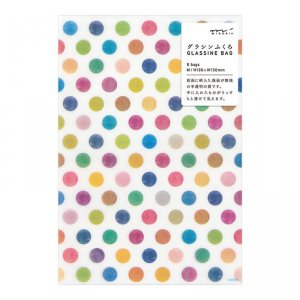 sachet glassine - M - Pois multicolores - Par 8