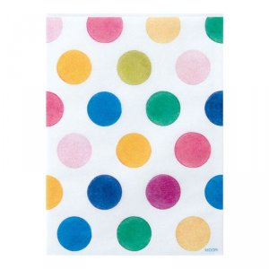 Sachet glassine - S - Pois multicolores - Par 10