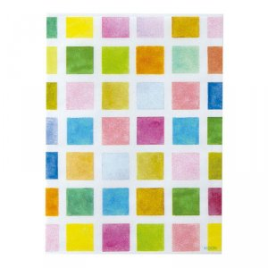 Sachet glassine - S - Carreaux multicolores - Par 10