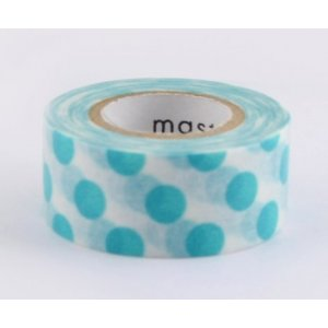 Masking tape masté - Points Turquoise (polka dots)