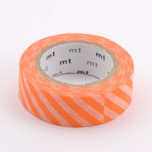 Masking tape / Rayures orange fluo