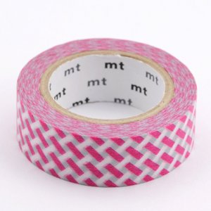 Masking Tape - Tressage Rose & Gris