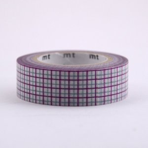 Masking tape / quadrillé violet & gris / hougan purple x gray
