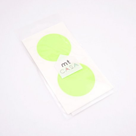 MT CASA Sticker rond - shocking green - 10 pcs