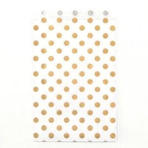 Sachets papier Grands - Pois Or (lot de 5)