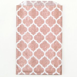 Sachets papier Medium - Casablanca Rose doré
