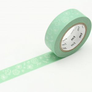 Masking Tape - Fleurs blanches