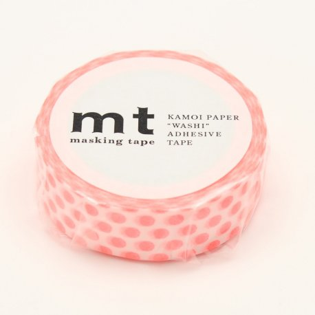 Masking Tape - Pois Rouge fluo