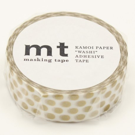 Masking Tape - Grands Pois Or