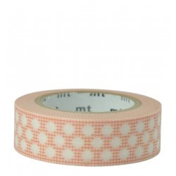 Masking tape - Quadrillé à pois orange