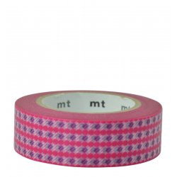Masking tape - Rayures à pois rose