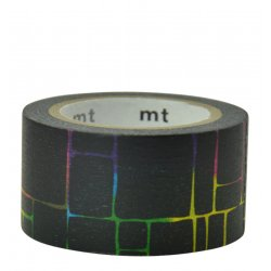 Masking tape ardoise - Cases quadricolores