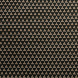 Papier cadeau Kraft Triangles Noir - 2m