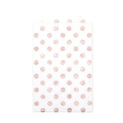 Sachets papier Medium - Pois rose doré (lot de 10)