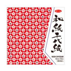 ORIGAMI Chiyogami 48 feuilles 15 x 15cm, 12 motifs traditionnels